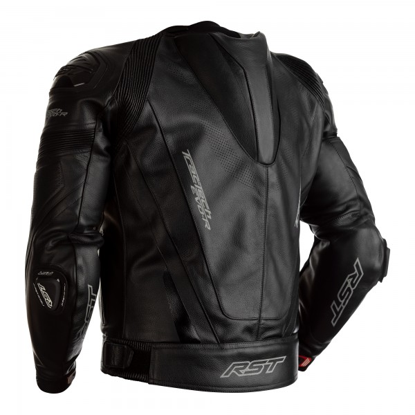 RST Tractech Evo R CE Mens Leather Jacket Black / Black