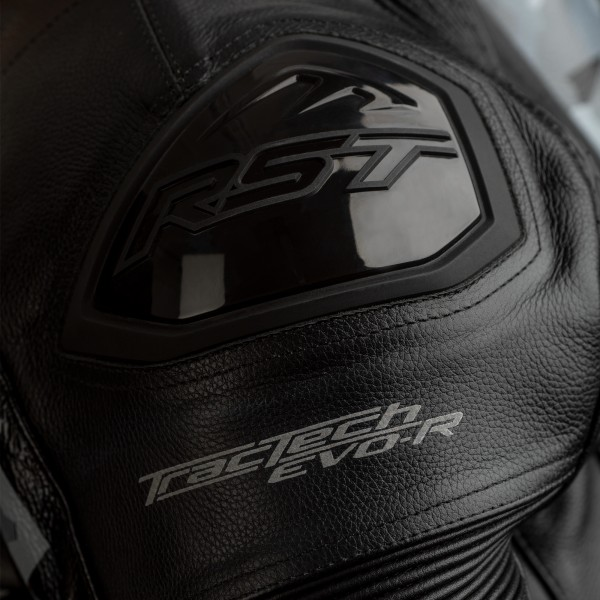 RST Tractech Evo R CE Mens Leather Jacket Black / Camo