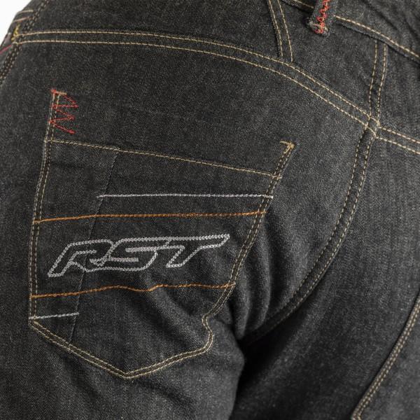 RST Reinforced Straight Leg CE LL Mens Textile Jean Black