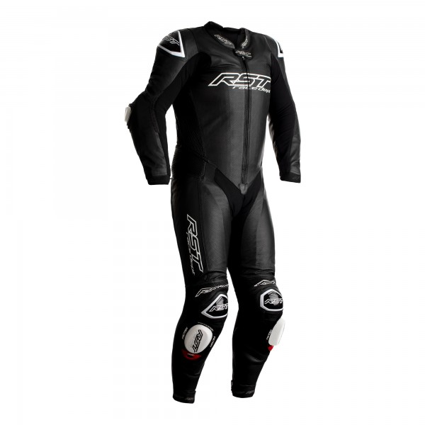 RST V4.1 Kangaroo Airbag Mens Leather Suit Black/Black