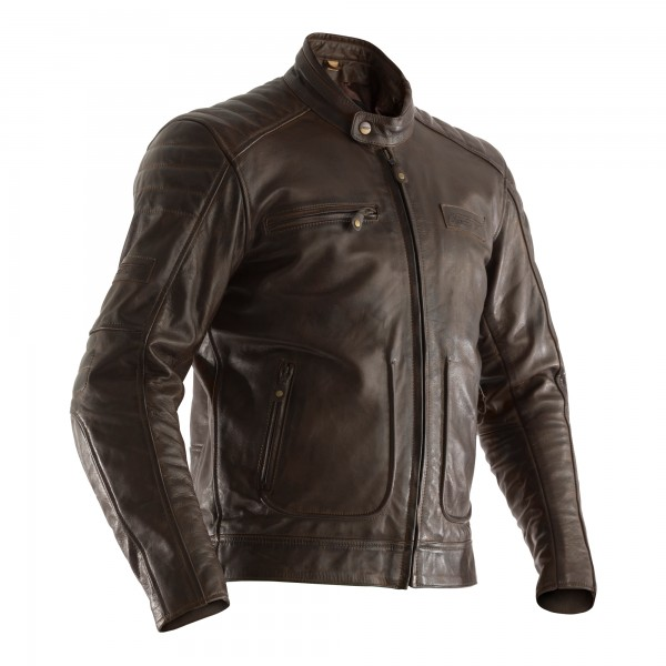 RST Roadster II CE Mens Leather Jacket Tobacco Brown