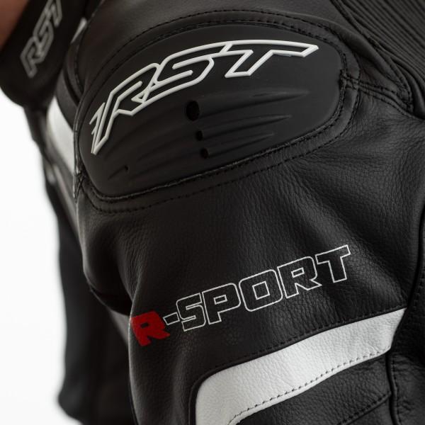 RST R-Sport CE Mens Leather Suit Black / White