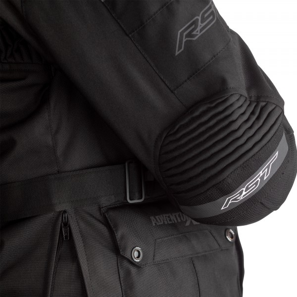 RST Pro Series Adventure-X Airbag CE Mens Textile Jk Black / Black