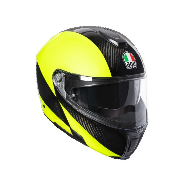 AGV Sports Modular Hi Vis Carbon Flo Yellow