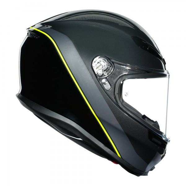 AGV K6 Minimal Gunmetal / Black / Flo Yellow