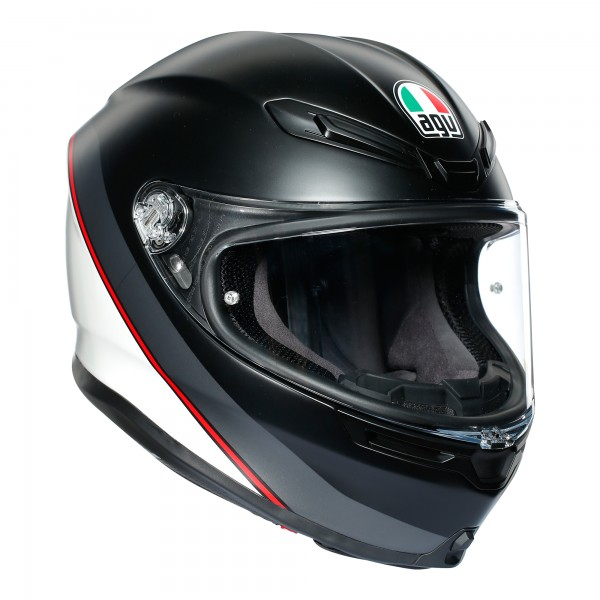 AGV K6 Minimal Pure Matt Black / White / Red