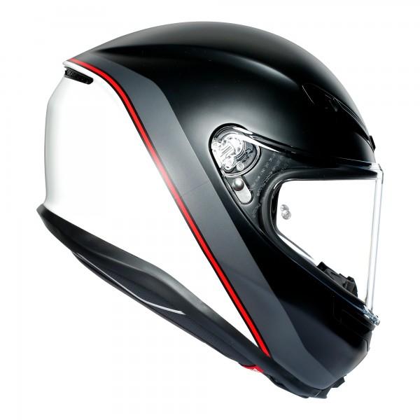 AGV K6 Minimal Pure Matt Black / White / Red