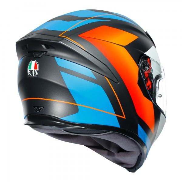 AGV K5-S Core Matt Black / Blue / Orange