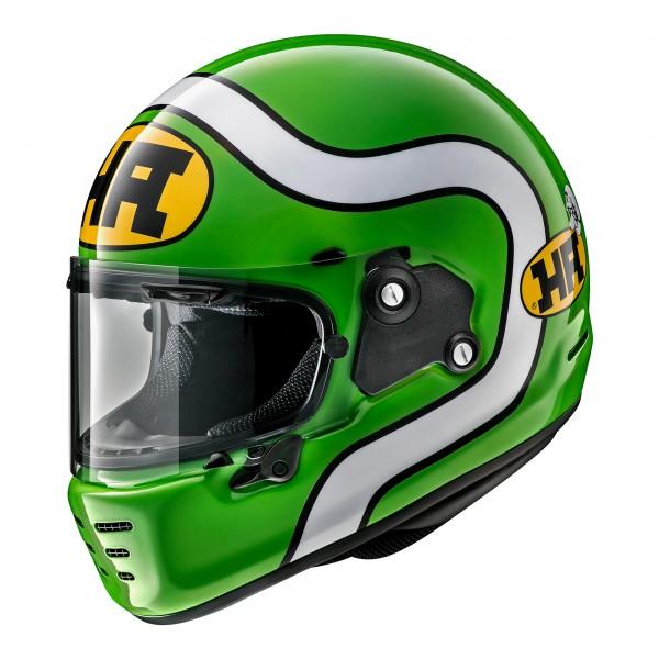 Arai Rapide Ha Green Helmet