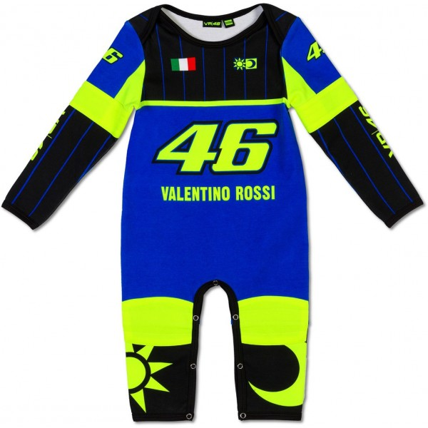 VR46 BABY OVERALL REP BLU