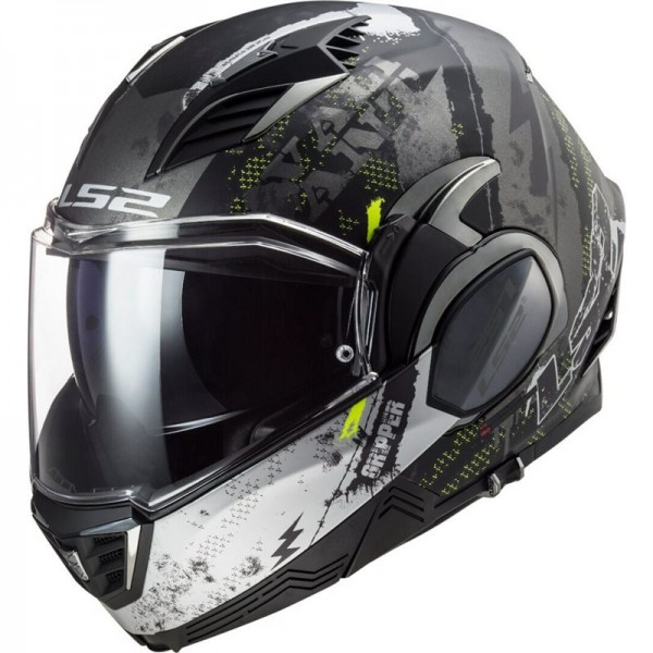 LS2 FF900 VALIANT 2 GRIPPER MATT TITANIUM HELMET - FREE HELMET BACKPACK INCLUDED