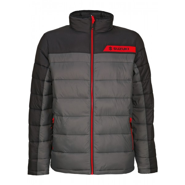 TEAM SUZUKI BLACK QUILTED JACKET