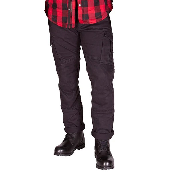 Merlin Harlow Multi Layer Cargo Jeans Black