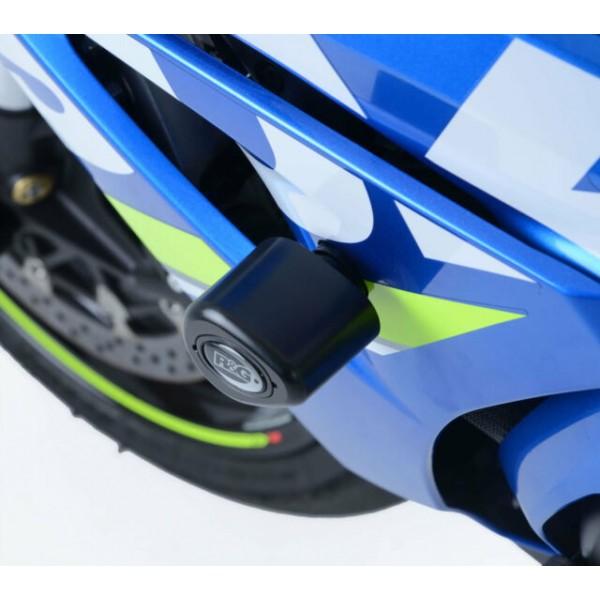 R&G Black Crash Protectors Bungs Aero Style Suzuki GSX-R1000R '2018' CP0421BL