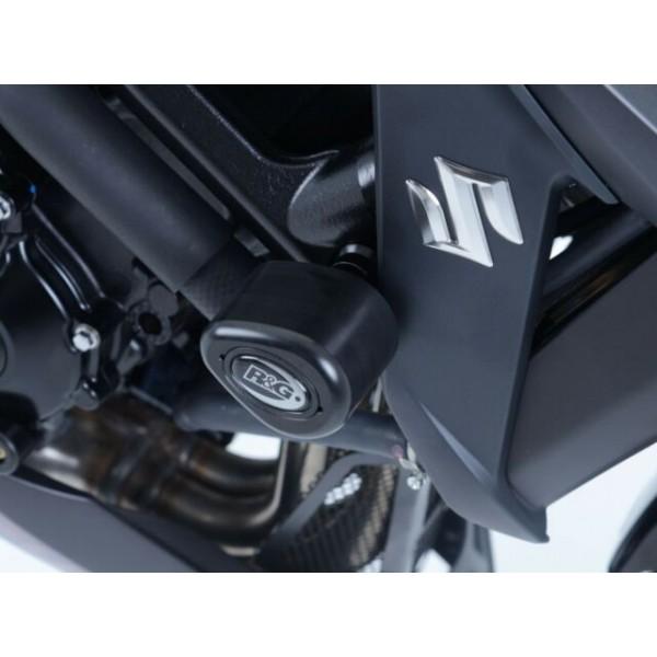 R&G Black Crash Protectors Bungs Aero Style for Suzuki GSX-S750 '2018' CP0424BL