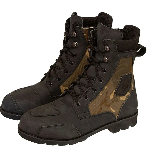 Merlin G24 Borough Camo Leather Boots - Brown