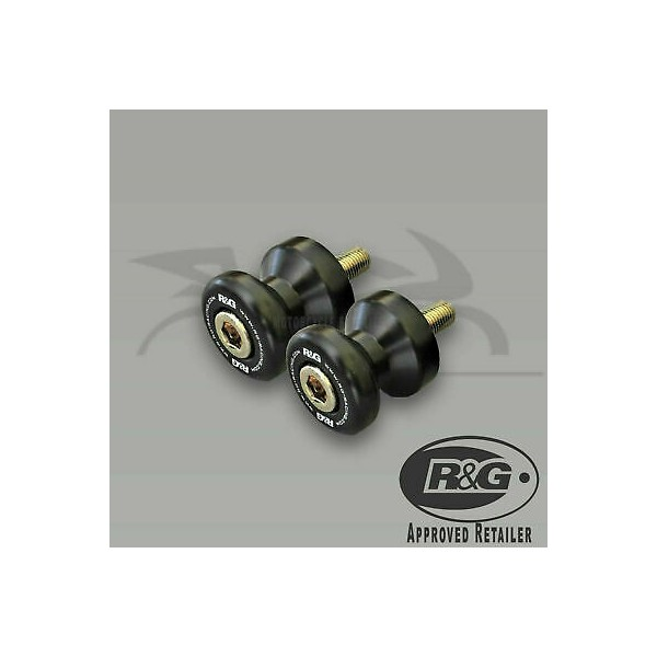 R&G Racing M8 Cotton Reels (Black) - Suzuki SV650 (16-) CR0053BK