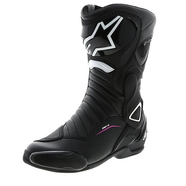 Alpinestars Stella SMX-6 V2 Drystar Boots - Black/White/Fuchsia