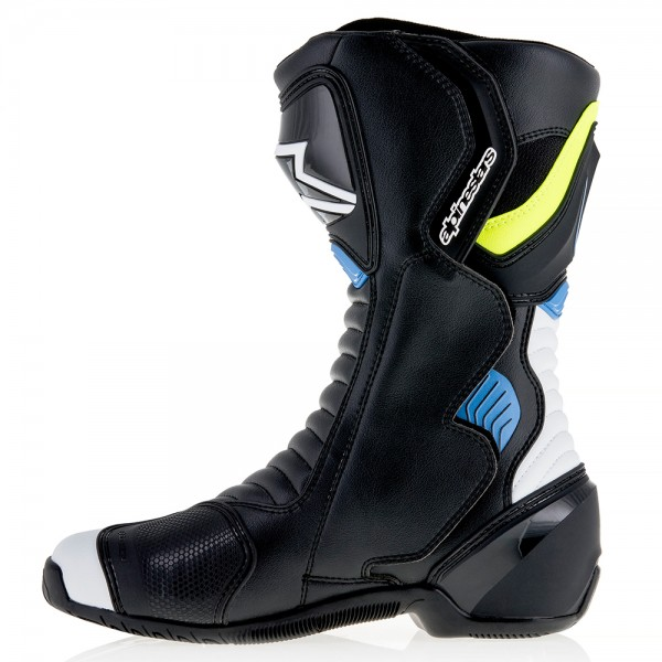 Alpinestars SMX-6 V2 Boots Black White Yellow Fluo & Blue