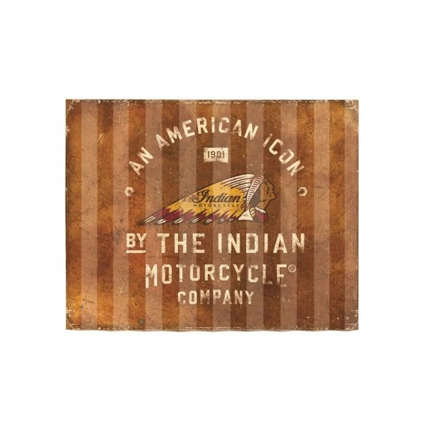 Indian American Icon Corrugated Metal Sign