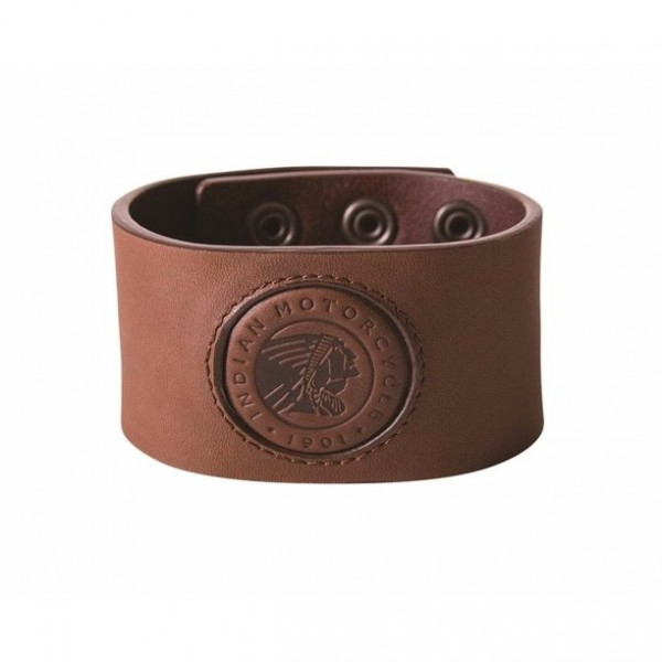 Genuine Indian Leather Snap Cuff