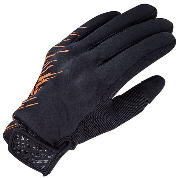 LS2 Jet Textile Gloves - Grey / Orange
