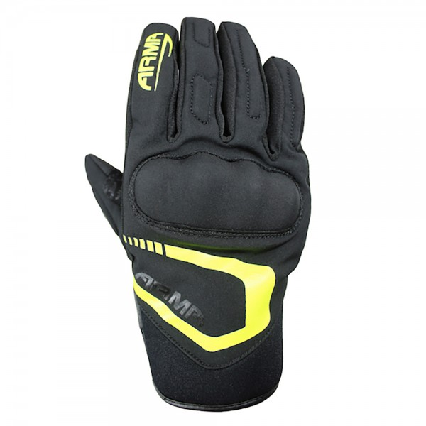 ARMR Moto SHWP940 Glove Black/Fluo Yellow