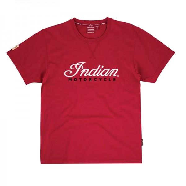 Indian 3D Logo T-Shirt Red
