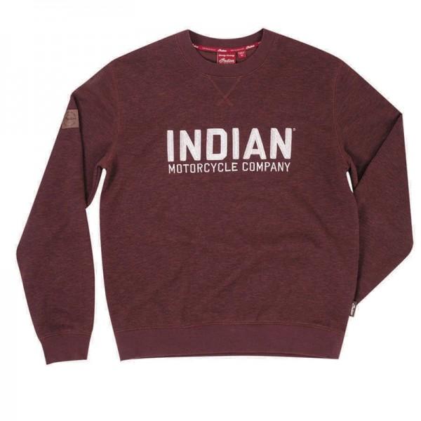 Indian Pull-Over Sweatshirt with Block Logo - Port