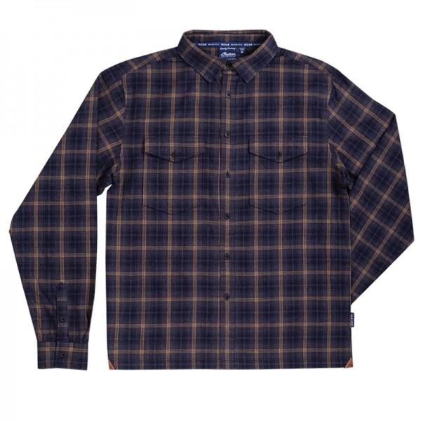 Indian Men's Twin Pocket Plaid Shirt - Gray