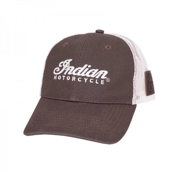 Indian Script Trucker Hat - Brown