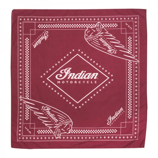 Indian Cotton Pet Bandana with Printed logos 2-Pack - Red/Black
