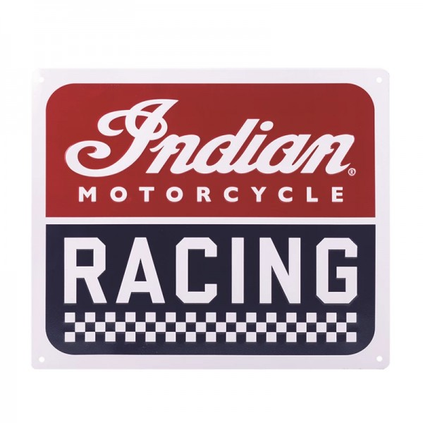 Indian IMC Racing Metal Sign