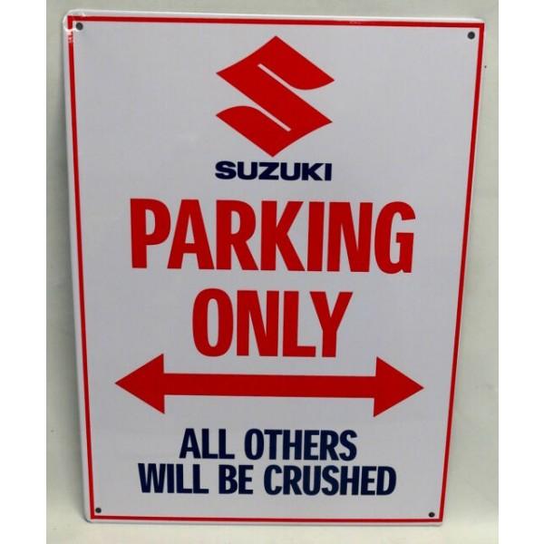 Genuine Suzuki Parking Sign Plate