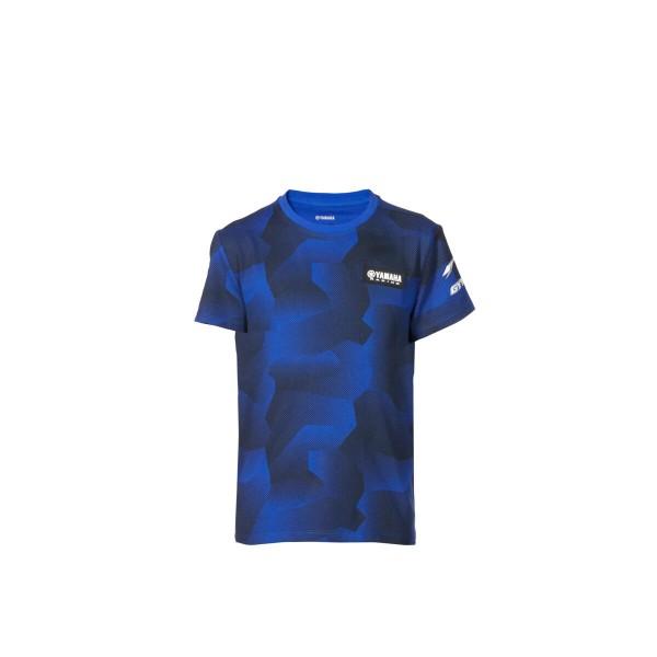 Yamaha Paddock Blue Kids Camo T-Shirt