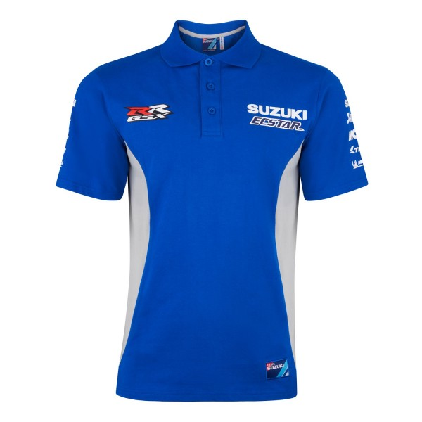 Suzuki MotoGP 2020 Team Polo Shirt Mens Sport Fabric