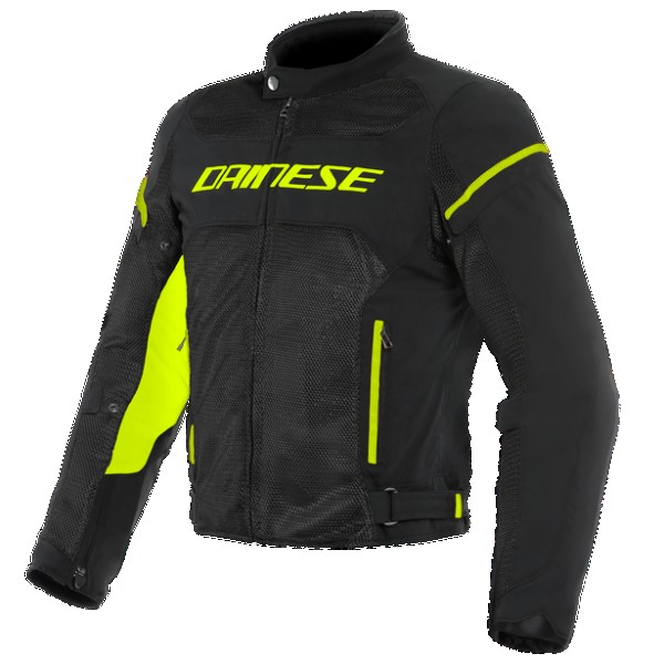 DAINESE AIR FRAME D1 TEX JACKET Black/Yellow-Fluo