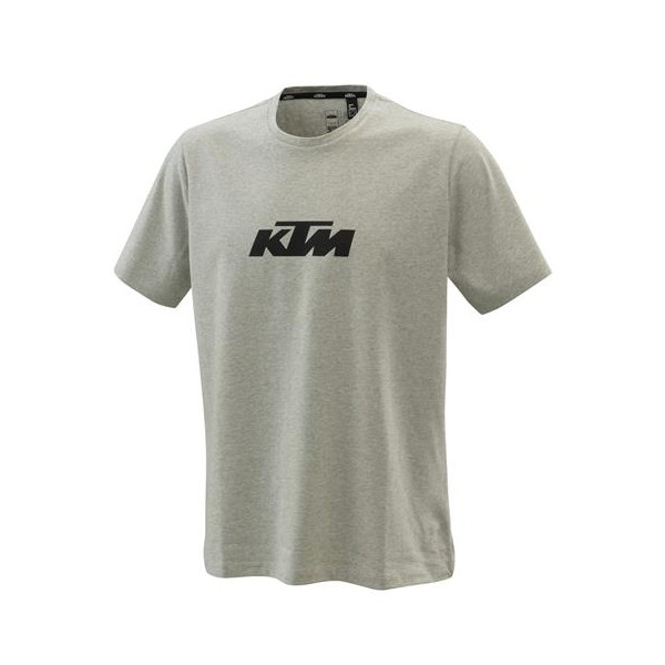 KTM Pure Logo Tee - Grey Melange