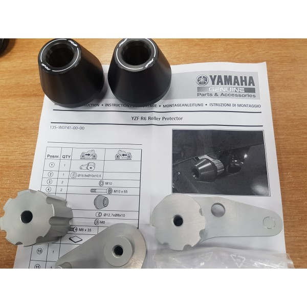 Genuine Yamaha R6 Roller protectors kit 08-15 models
