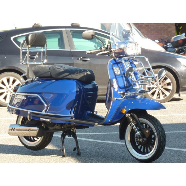 Royal Alloy Rear Back Rest & Foldable Rack Chrome With FREE RA T-Shirt
