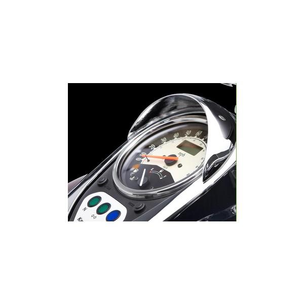 Speedometer visor Chrome