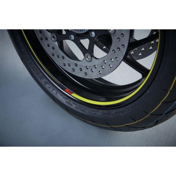 Suzuki GSX-S1000F Wheel Decal Set Yellow (single Wheel)