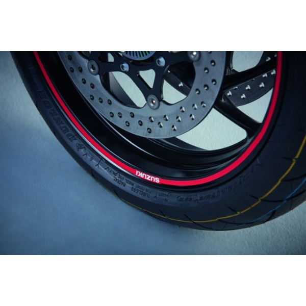 Suzuki GSX-S1000F Wheel Decal out Red solid (Single Wheel)