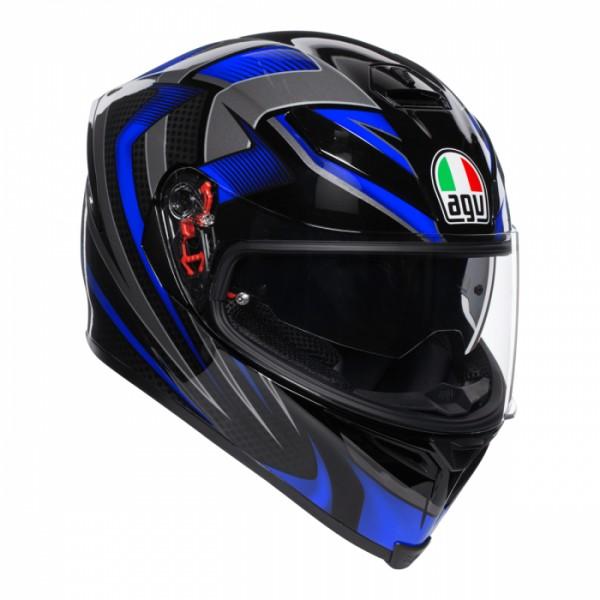 AGV K-5 S Hurricane 2.0 Helmet Black/Blue