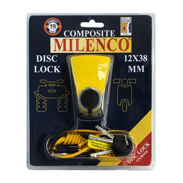 MILENCO COMPOSITE DISC LOCK 12X38MM