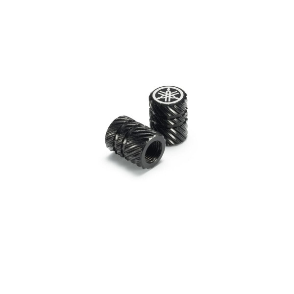 Yamaha Aluminium Valve Caps Helical Pattern (Available In 3 Colours)