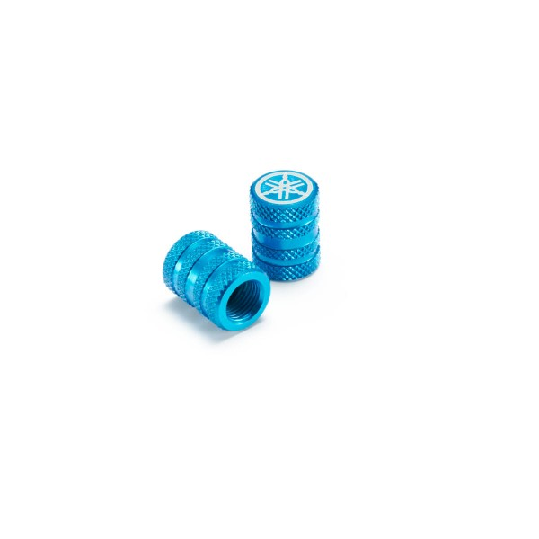 Yamaha Aluminium Valve Cap Knurled Pattern (Available In 3 Colours)