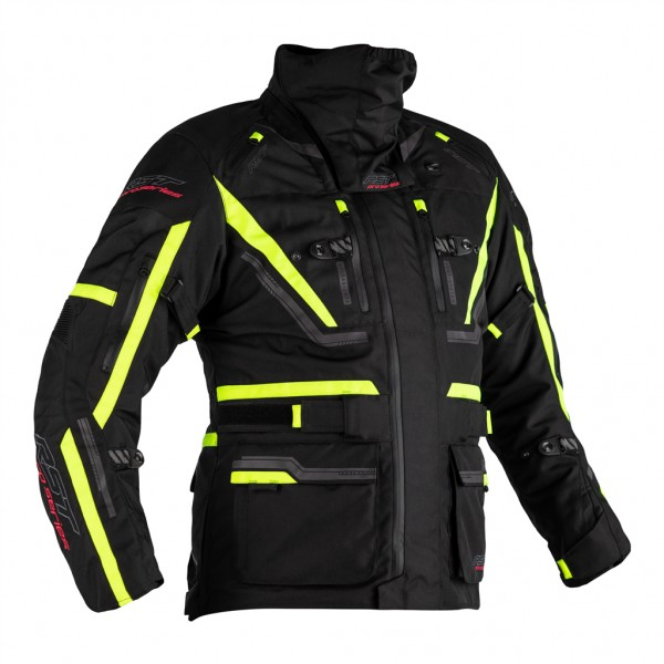 RST Pro Series Paragon 6 CE Mens Textile Jacket Black and Yellow