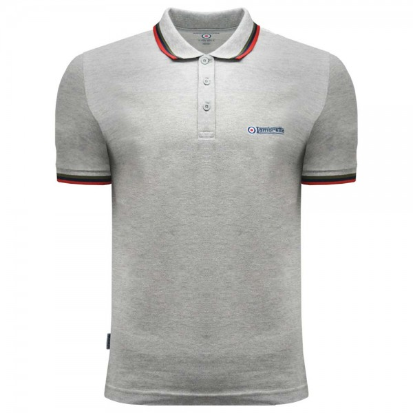 Lambretta Triple Tipped Polo Grey Marl, Olive, Navy, Red