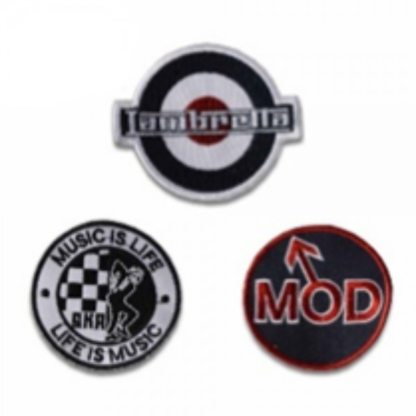 Lambretta 3 Pack Of Sew On Patches Coloured